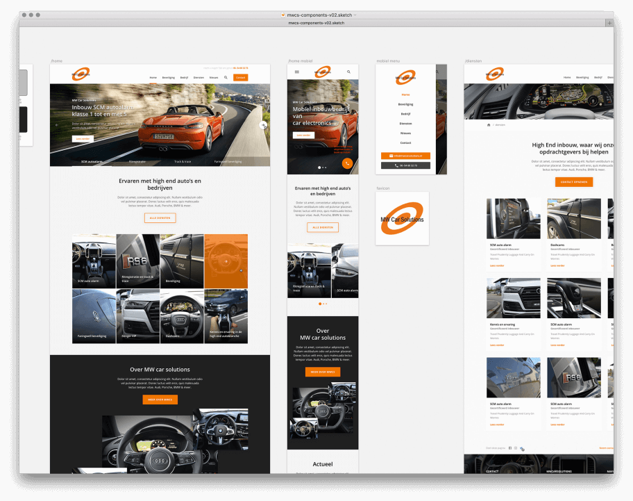 MW Car Solutions website redesign