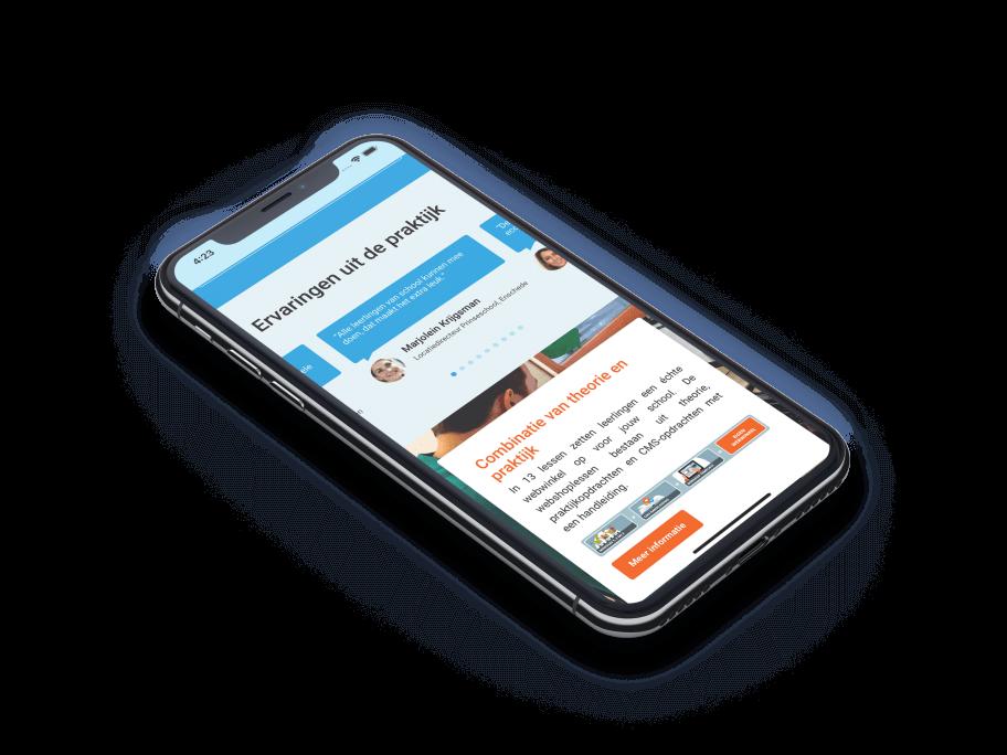 Mobiele weergave commerciele website