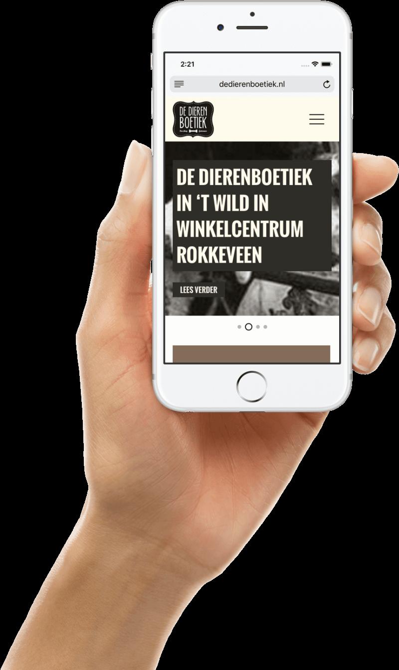 Mobiele website Dé Dierenboetiek