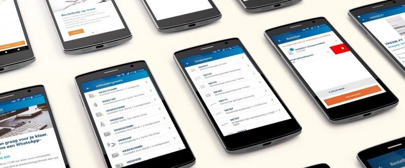 Grafisch ontwerp van de mobile apps