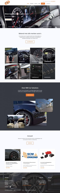 Grafisch ontwerp van MW Car Solutions website