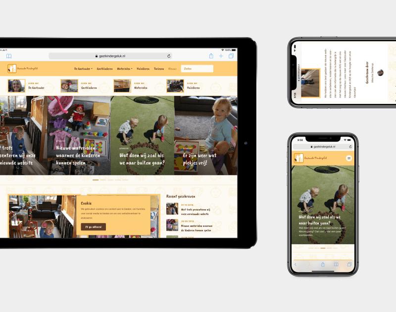 De website is o.a. responsive geoptimaliseerd voor mobiele apparaten