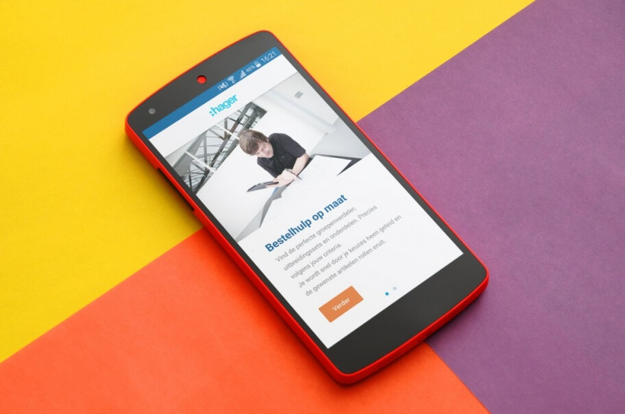 Mobiele app van Hager Nederland