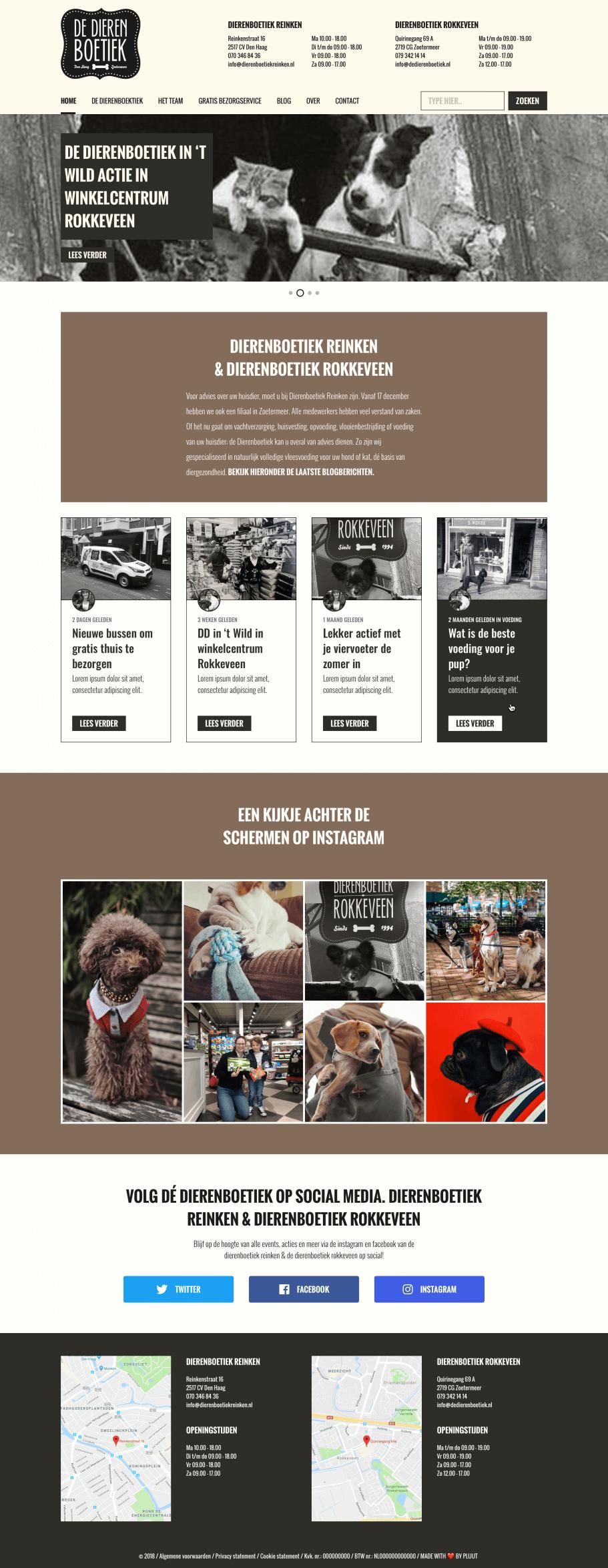 Ontwerp website De Dierenboetiek