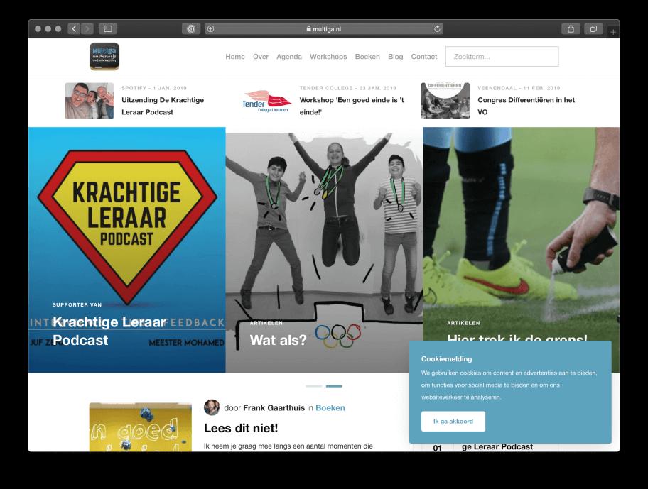 Website voor Multiga Onderwijsontwikkeling