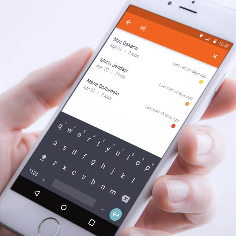 Android app voor verloskundigen in Noord-Ghana