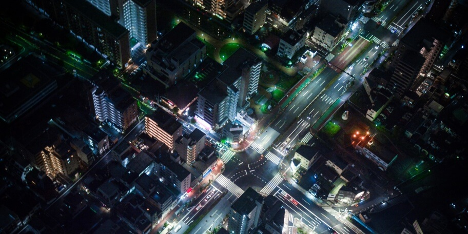 Stad in de nacht