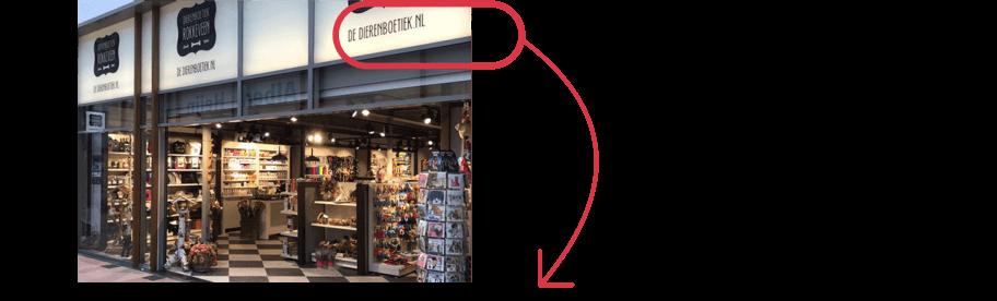 Website sluit naadloos aan op de uitstraling van de winkel