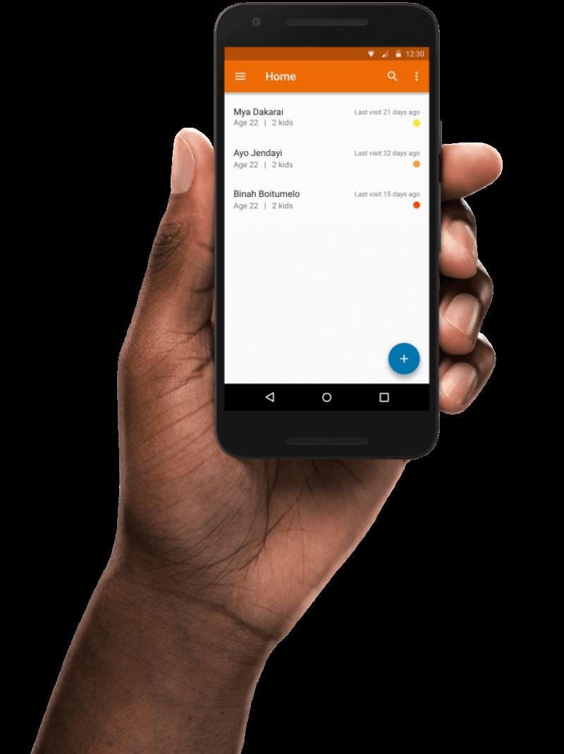 Android app weergave Simavi app