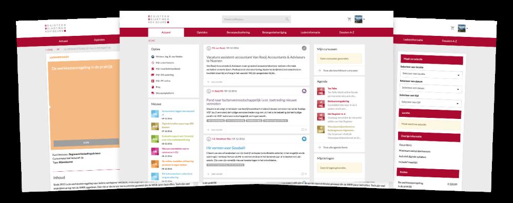 Desktop weergave homepage RB-plaza
